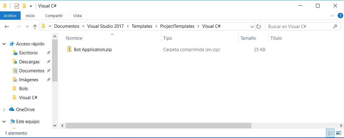 Visual Studio 2017: Bot Application Template no encontrada ...